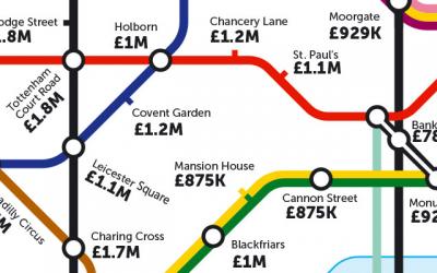 Le plan de Londres des prix de l'immobilier